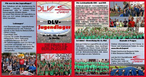 DLV-Jugendlager zur DM in Berlin - Noch Plätze frei!!!