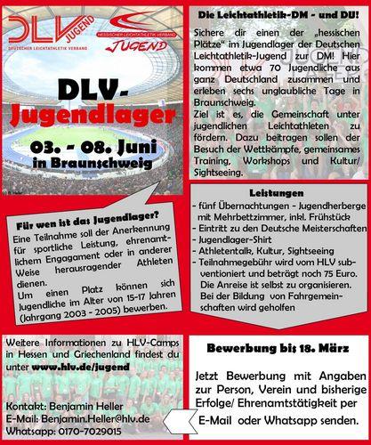 DLV-Jugendlager zur DM in Braunschweig