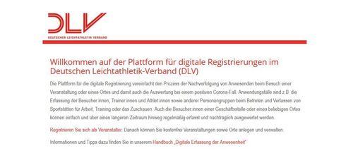 """Kostenlose Service-Plattform """"Digitale-Registrierung"""" des DLV ab sofort verfügbar"""