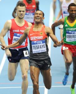 Homiyu Tesfaye: mit zweitem deutschen Rekord zur Hallen-DM